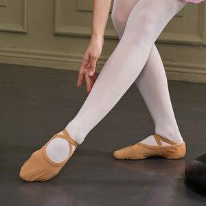 Image 2 - Zapatos de Ballet para adultos Sansha malla elástica de 4 vías 3 zapatillas de Ballet de diseño de suela dividida para niñas y hombres zapatillas de Ballet rosa /zapatos de baile negros NO.357M