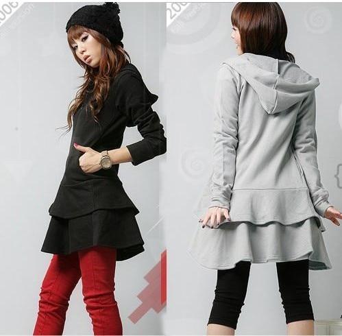 Wholesale Top Fashion Women Hoodie Coat Warm Zip Up Outerwear ...