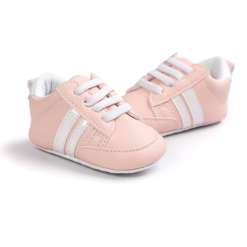 Baby Shoes Soft Bottom Anti-skid PU Leather Shoe For Infant Toddler Boys Girls-P101