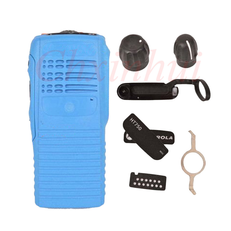 Blue Radio Service Parts Case Refurb Kit For Motorola HT750 two way radio walkie talkieBlue Radio Service Parts Case Refurb Kit For Motorola HT750 two way radio walkie talkie