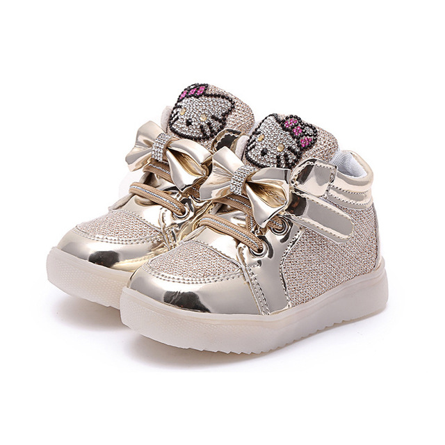 2019 Glowing Sneakers for Girls Luminous Sneakers with Backlight Children Footwear Led Light Shoes for Girls Licht  Shoes 1