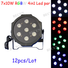 NO TAX 7x10W MINI Led Par Light RGBW 7X4IN1 RGBW LED PAR Can Stage Lights 12pcs Ship from Spain