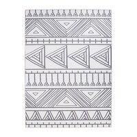 Modern Simple Geometry Striped Black White Carpet Non slip Washable Durable Area Rug for Living Room/Bedroom/ Floor mat