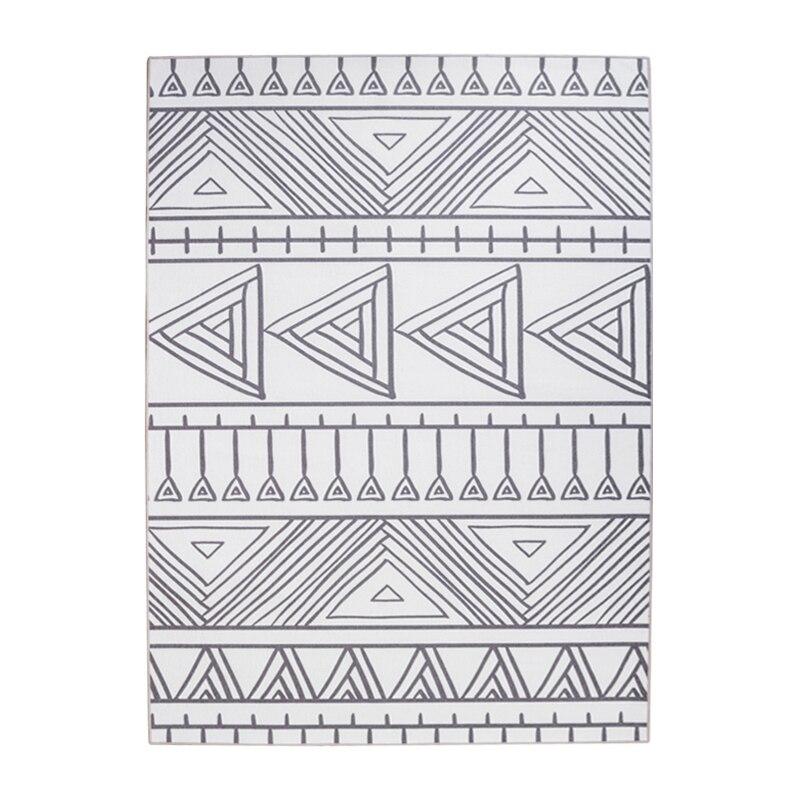 Moderne Simple géométrie rayé noir blanc tapis antidérapant lavable Durable zone tapis pour salon/chambre/tapis de sol