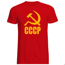 CCCP T-SHIRT ALL SIZES + COLS (Brand USSR Russia Soviet Communism) Harajuku Tops Fashion Classic Unique free shipping