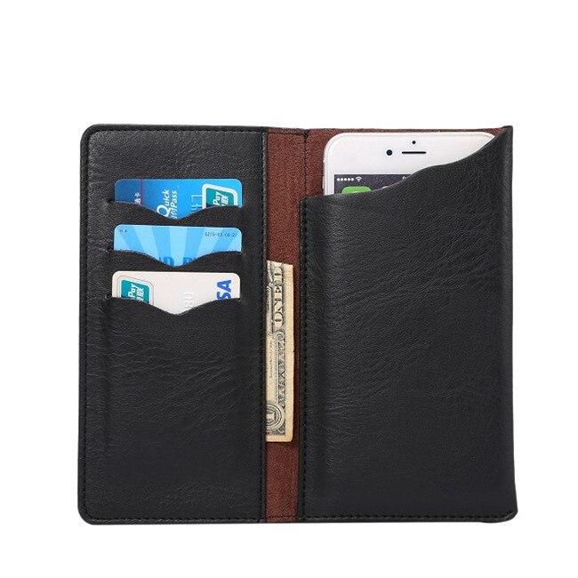 Alta calidad 4 colores crazy horse cartera de cuero del soporte del teléfono cas