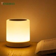 цена на Mini Bluetooth Speaker Wireless Smart LED Bluetooth Music Speaker Audio TF Cart Slot FM Stereo Sound Luminous Speaker