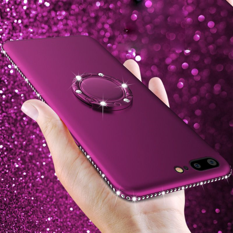 For iPhone 7 5 5s SE X XR XS Max Case Glitter Rhinestone Soft Silicone Candy Color Diamond Bling Cover For iPhone 7 6 8 6S Plus (6)