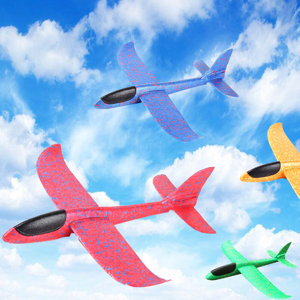 DIY 36cm Hand Throw Flying Glider Planes Toys For Children Foam Aeroplane Model Party Bag Fillers Flying Glider Plane Toys Game