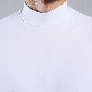 Image 5 - Arcsinx ハーフタートルネック男性 tシャツカジュアル長袖 tシャツ男性プラスサイズ 6XL 5XL 4XL 3XL ファッションフィット tシャツ男性