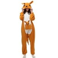 Kangur Zwierząt piżama Dorosłych snu salon Unisex Piżama Kigurumi Cosplay Costume Zwierząt Onesies Piżamy