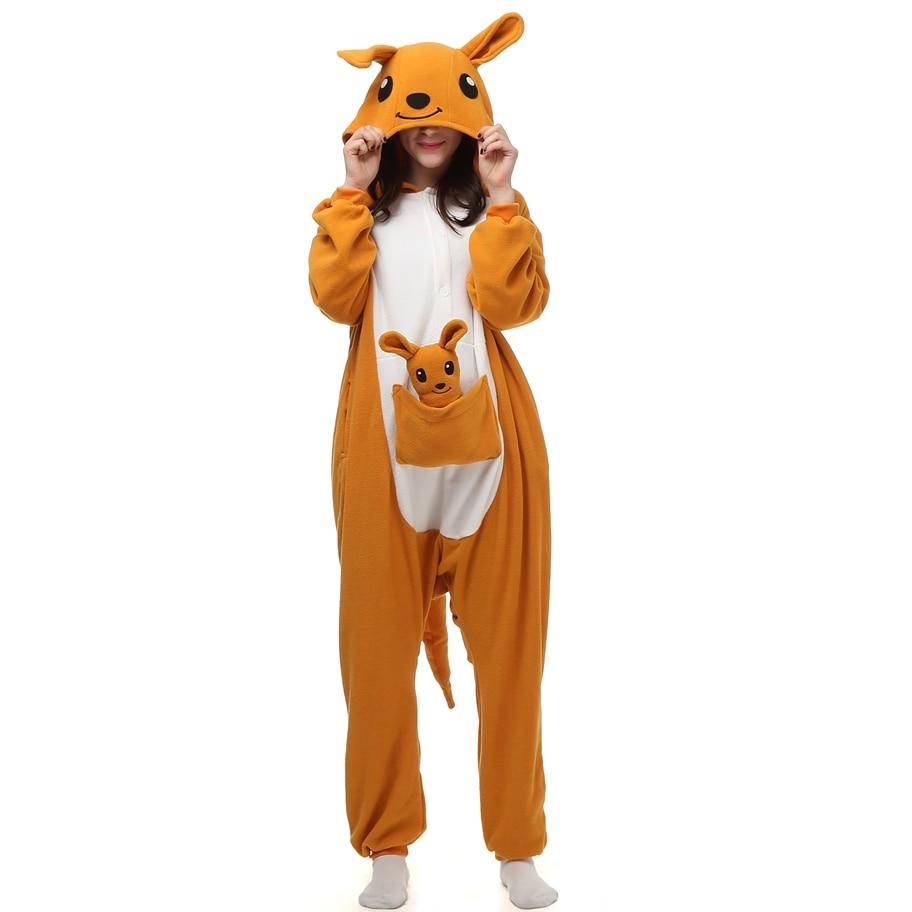 kangaroo Animal pajamas Adult sleep lounge Unisex Pajamas Kigurumi Cosplay Costume Animal Onesies Sleepwear