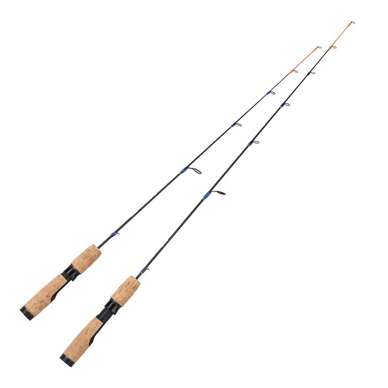 Ice Fishing Rod 1 SEC 71cm/81cm ML M 100% Solid Carbon Lightweight Ice Fishing Pole 2.4' 2.8' Winter Casting fishing Rod