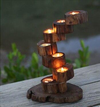 Романтические свадебные свечи Декор деревянный подсвечник Настольный мода канделябры украшения дома + бесплатная доставка