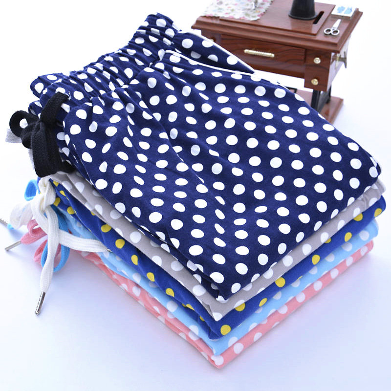 Schlafhosen Hell Ansper Marke Casual Unisex Baumwolle Spot Dot Pyjama Hose Lounge Tragen Weiche Beiläufige Böden Hosen S-xl Starker Widerstand Gegen Hitze Und Starkes Tragen