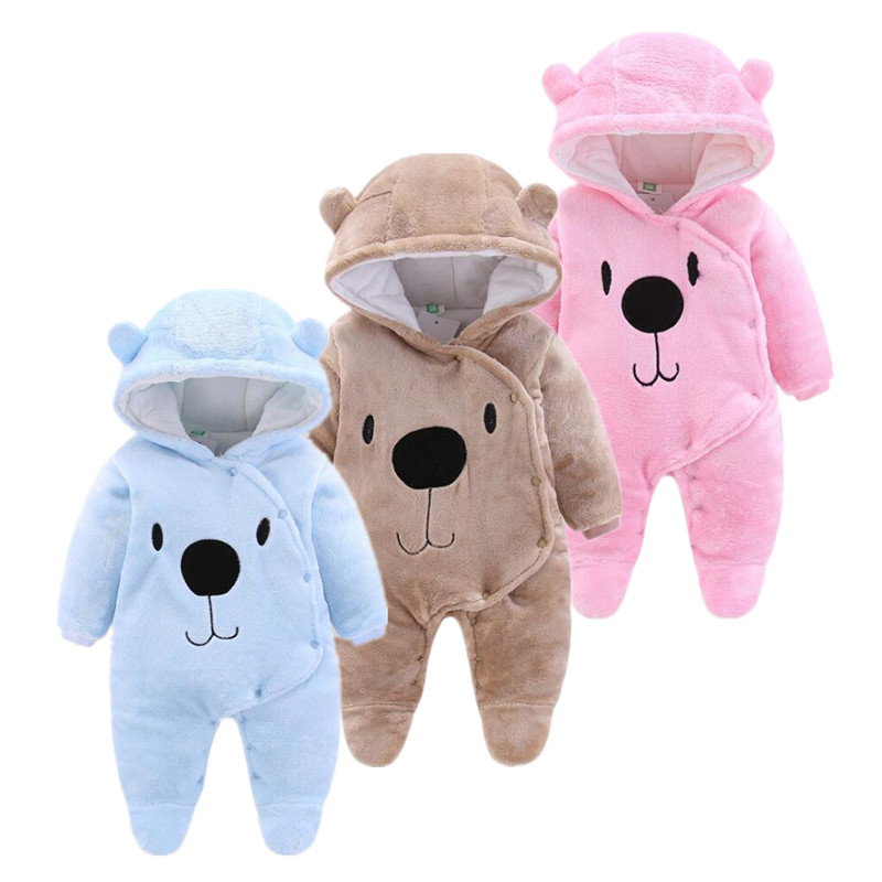 orangemom 2019 winter jumpsuit fleece newborn clothing warm boys Girls Baby Animal   Rompers   , Infantil Clothes For Newborns
