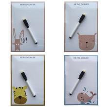 carton animal series printed Dry Erase Flexible Magnetic Whiteboard/Message board/Memo Pad/Dialog Box Magnet