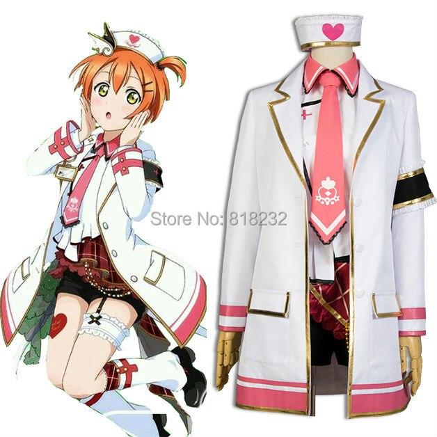 LoveLive! Amour en direct Rin Hoshizora infirmière robe uniforme tenue Cosplay Costumes