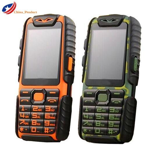Gift 24 hours shipping Guophone A6 Life Waterproof 2 4 9800mAH Power Bank Phone Shockproof Loud
