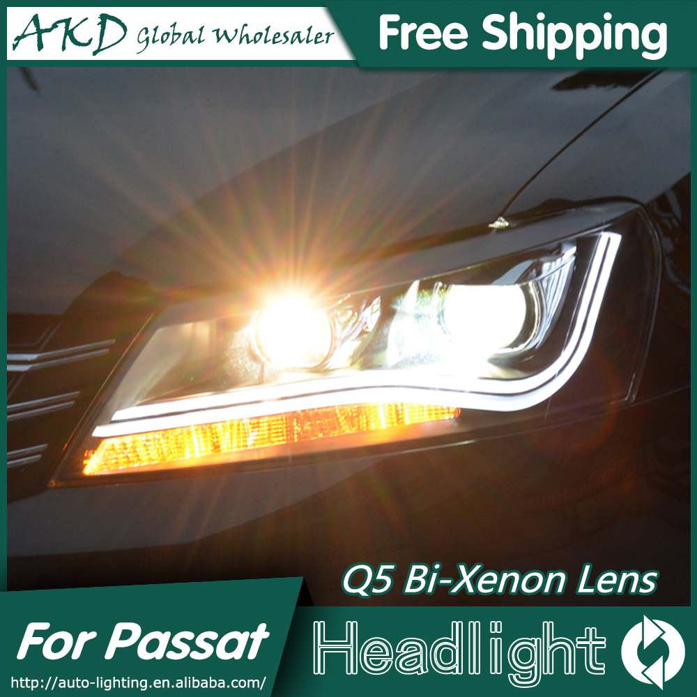 AKD Car Styling for VW Passat B7 Headlights 2012-2014 Passat CC LED Headlight DRL Bi Xenon Lens High Low Beam Parking Fog Lamp айфон 4 москве дешево