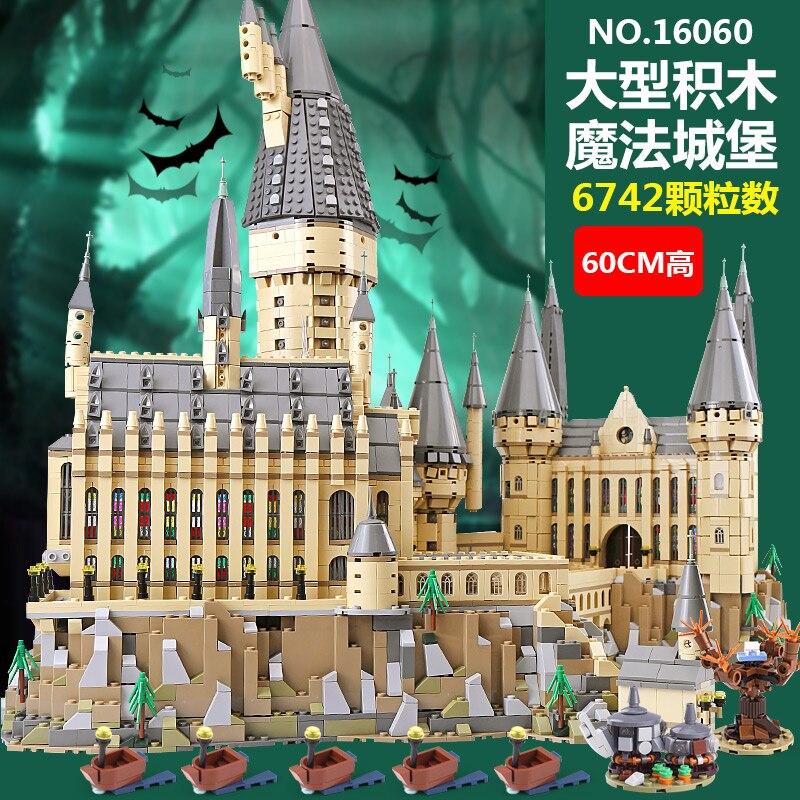 Dans Stocks Lepin 16060 Harry Film Potter École de Magie Legoinglys 71043 Poudlard Château Ensemble Modèle de Blocs De Construction Enfants Jouets Cadeaux
