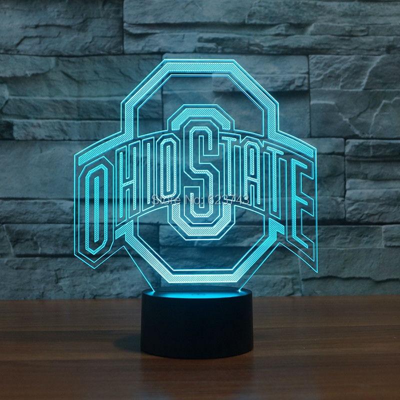 Ohio State Logo 3d Lampe Nacht 7 Farbe Ändern, Beste Geschenk ...