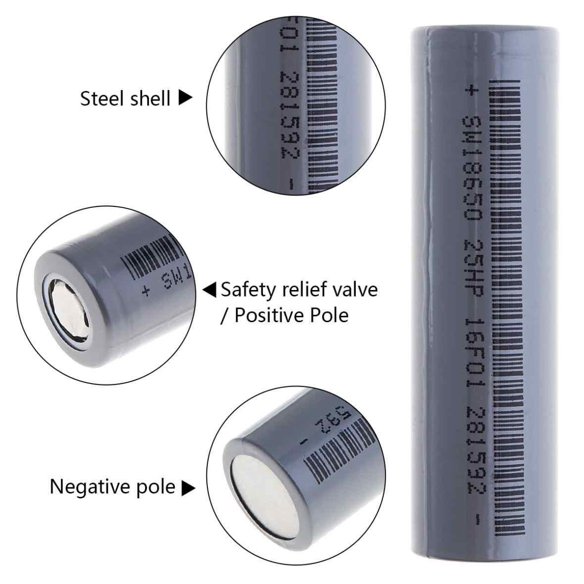 4 шт./компл. Soshine 18650 3,7 V 2600 мА/ч, литий-ионный аккумулятор Батарея с 1000 цикла для фонарик Фара головного света + Батарея Чехол Коробка для хранения