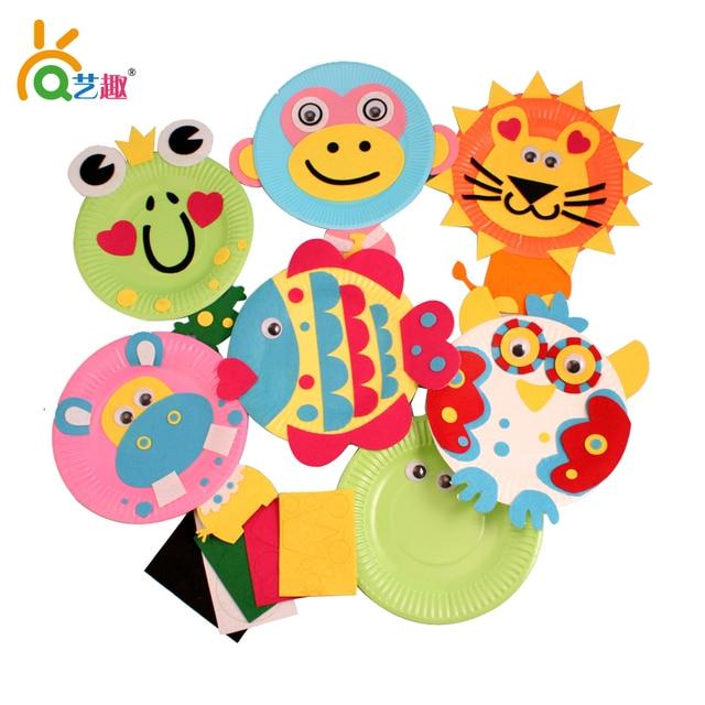 5 PCs children color paper plate DIY toys/ kindergarten handmade art craft eva stickers educational  sc 1 st  AliExpress.com & 5 PCs children color paper plate DIY toys/ kindergarten handmade art ...