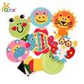 5 Unids niños de color plato de papel juguetes DIY/kindergarten materiales hechos a mano del arte del arte pegatinas eva juguetes educativos, envío gratis