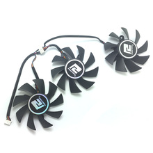 3pcs/1Lot 75mm PLA08015D12HH 4Pin 0.35A 12V PC Cooling fan For  Dataland R9 290/290X Graphics card replacement