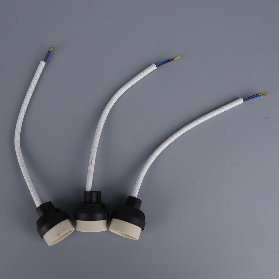 6p GU10 Socket Lamp Holder base Ceramic Wire Connector