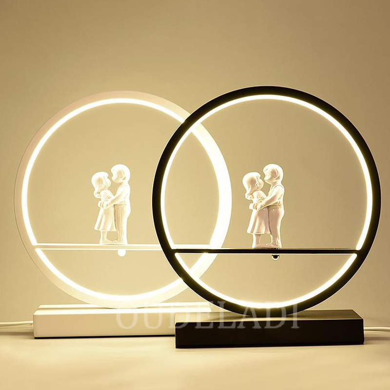 anjo lampada de mesa quarto cabeceira luz 02