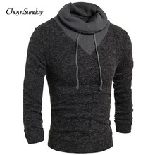 Fashion Sweater Pullover Men 2018 Male Brand Casual Slim Sweaters Men Soild Color Hedging Turtleneck Men'S Sweater Streetwear(China)