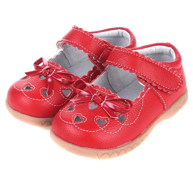 Zapatos de La Princesa del Gril del bebé Niños Infantiles de Cuero Genuino Zapatos de Las Muchachas Niños Zapatos de la Princesa de Las Muchachas Zapatos de Bebé Primer Caminante Calzado