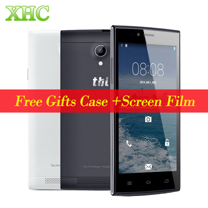 Цена за Оригинал thl t6c 5.0 ''android 5.1 леденец смартфон mtk6580 quad core 1.3 ГГц RAM 1 Г ROM 8 Г WCDMA 3 Г Мобильный Телефон Drop Доставка