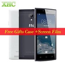 D'origine THL T6C 5.0 pouce Android 5.1 Smart Téléphone MTK6580 Quad Core Téléphones portables RAM 1G ROM 8G WCDMA 3G Dual SIM Mobile Téléphone