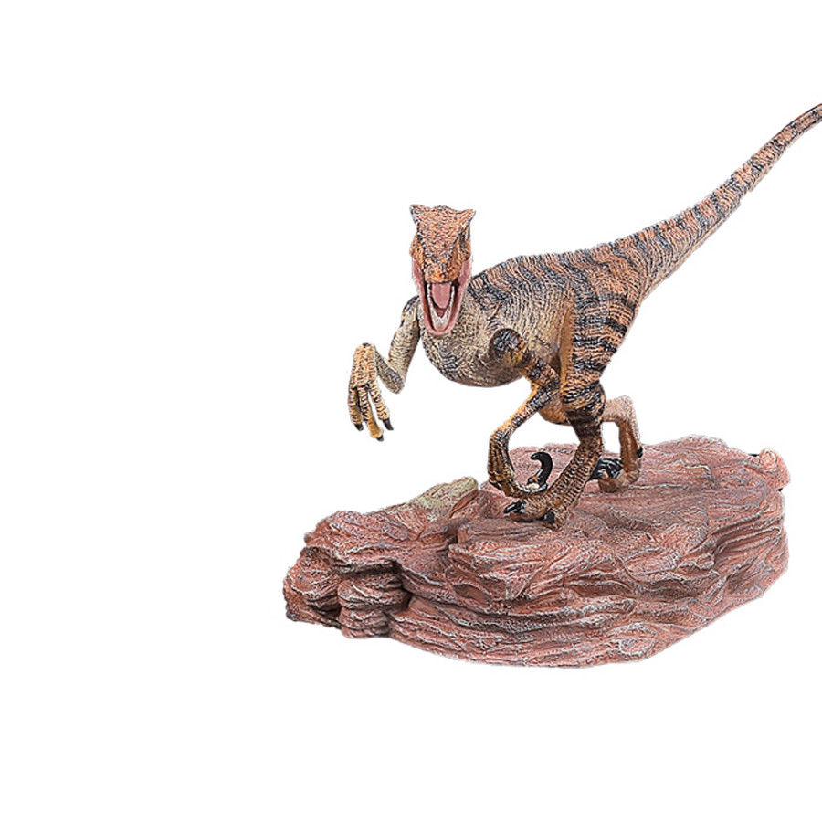 Velociraptor Raptor Action Figure Jurassic Dinosaur With Base Animal Model Ancient Biological Adult Kids Collection Toys Gift