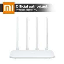Xiaomi mi無線lanルータ4C 64メガバイト300 150mbpsの2.4グラム4アンテナスマートapp制御の高速無線ルータリピータホームオフィス