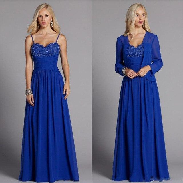 Royal Blue Plus Size Mutter Der Bräutigam Braut Kleider Ein linie ...