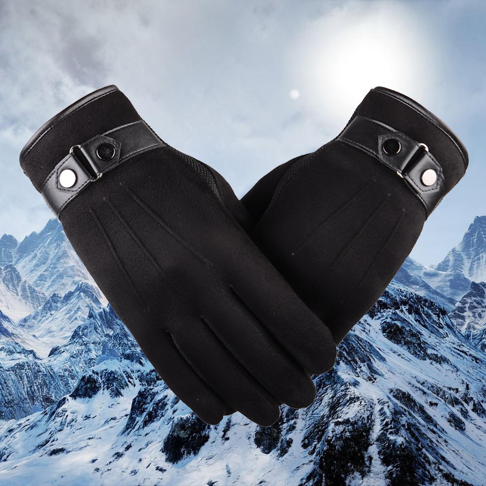 Precise Fashion Faux Suede Gloves Anti Slip Men Winter Thicken Thermal Mittens Male Boys Antiskid Snowboard Gloves #rn