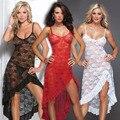 Hot! Plus Size M L XL XXL XXXL XXXXL 5XL 6XL women Sexy erotic lingerie Red Sleepwear nightgown pajamas sets long dressing Gown