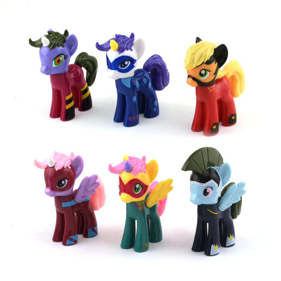 7cm Cute PVC Horse Action Toy Figures Toy Doll Ponies Unicorn Pegasus Alicorn Bat Dolls Toys For Girls
