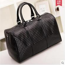New Trend Men Kintting Large Leather Duffle/Travel Bags Luggage Handbag Shoulder Bag High-capacity Cylinder Casual Wholesale