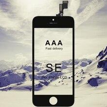 20 sztuk AAA jakości wymiana telefonu LCD dla iPhone SE wyświetlacz ze szklanym ekranem dotykowym Digitizer zgromadzenie dla iPhone SE LCD