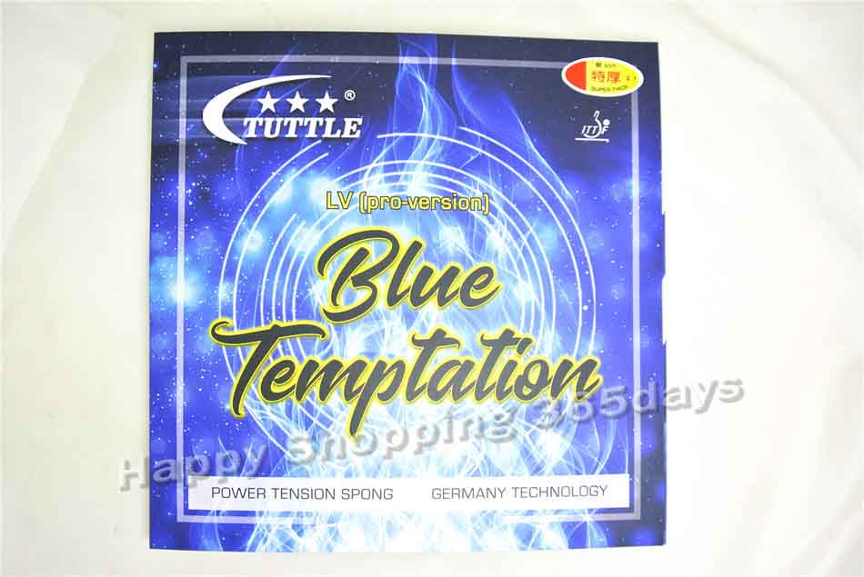 ITTF Tuttle Blue Temptation LV Germany Cake Sponge 40+ Table Tennis Rubber, Ping Pong Rubber Free Shipping