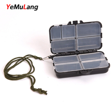 YeMuLang 1 piece 9 Compartments Storage Waterproof Case Fly Fishing Lure Spoon Hook Bait Case Fishing Box Tackle For Fishing