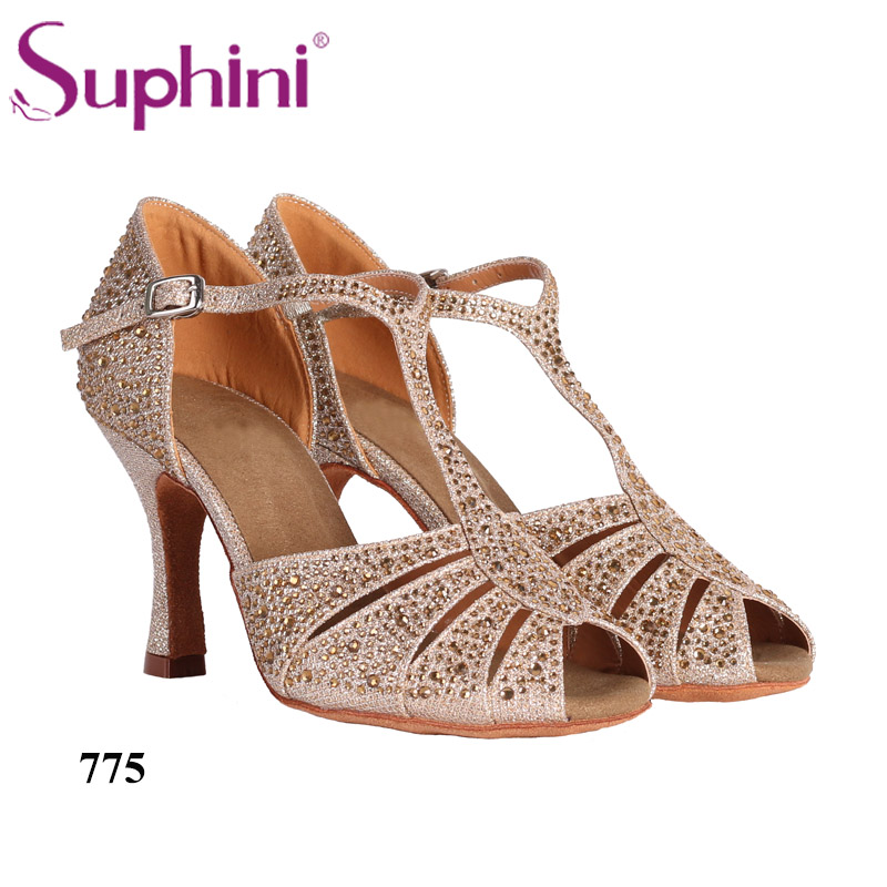 Free Shipping Social Dance Shoes Suphini Latin Dance Shoes Top Selling Latin Salsa Dance Shoes free shipping suphini customized salsa dance shoes special lady ballroom latin dance shoes
