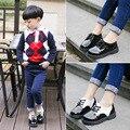 2016 Новый стиль детской обуви для мальчиков и девочек кожаные ботинки корейские приливные обувь 21 - 37