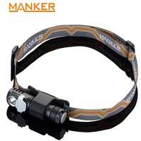Manker E03H AA Headlamp 350LM CREE XP L / Nichia 219C LED Headlight Angle flashlight With Headband, Magnet Tail, Reversible Clip