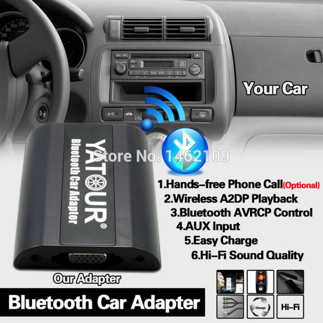 US $74 1 23% OFF|Yatour Bluetooth Car Adapter Digital Music CD Changer CDC  12PIN Connector For Audi A3 A4 S4 TT Skoda Superb Octavia Fabia Radios-in